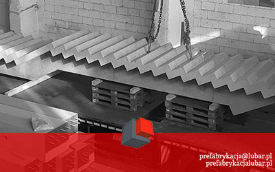 Prefabrykaty betonowe dla Szwajcarii - schody