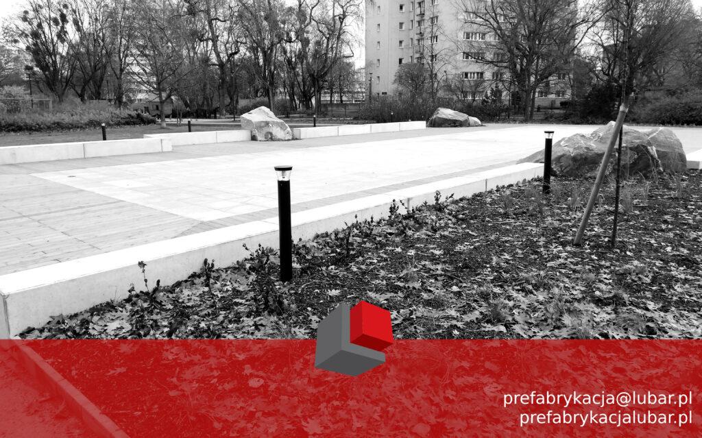 Siedziska betonowe Lubar Prefabrykacja
