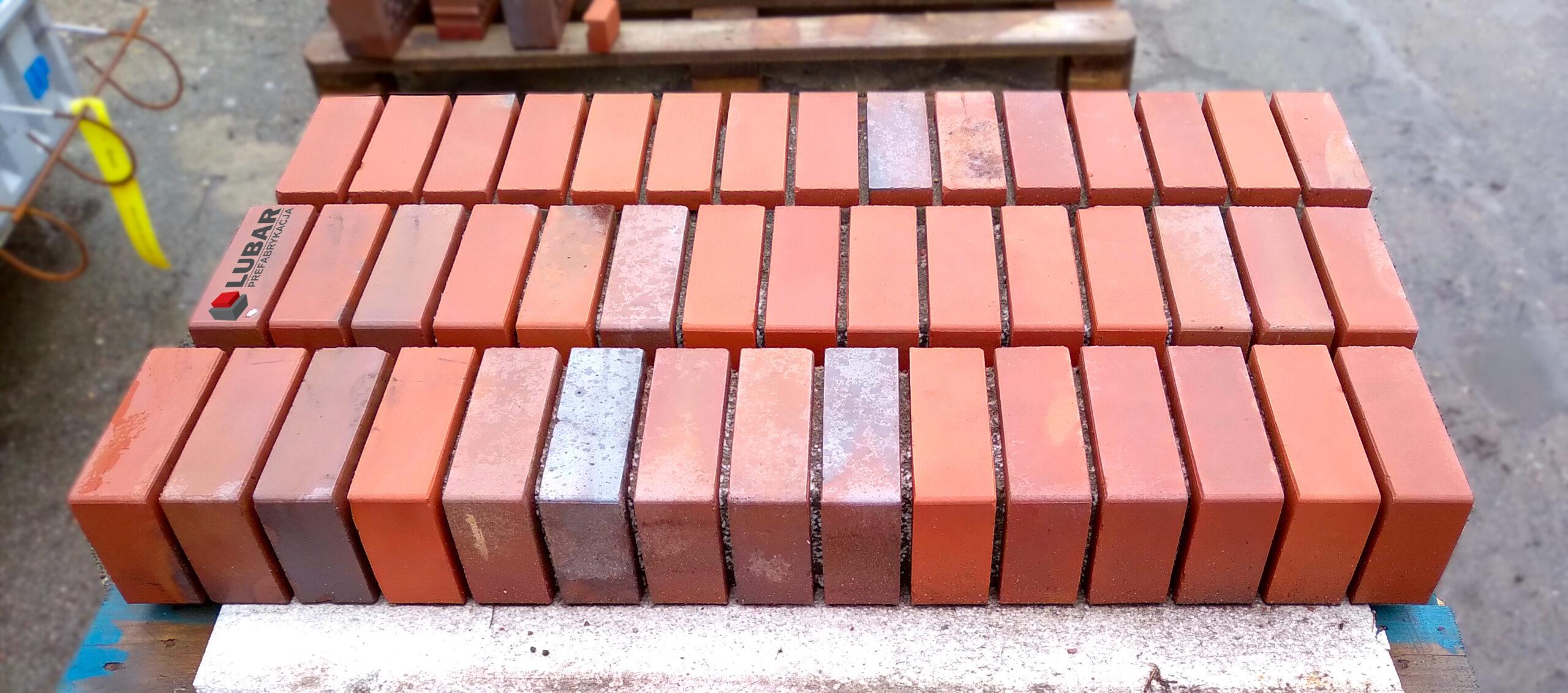 Prefabrykowane nadproża betonowe z klinkierem